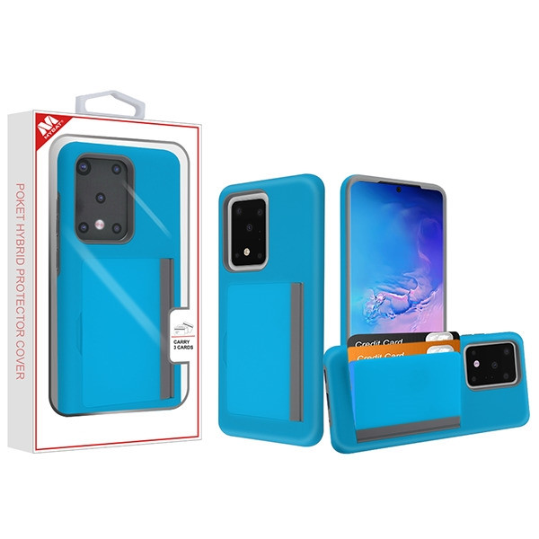 MyBat Poket Hybrid Protector Cover (with Back Film) for Samsung Galaxy S20 Ultra (6.9) - Blue / Gray