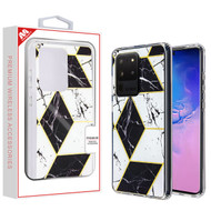 MyBat Fusion Protector Cover for Samsung Galaxy S20 Ultra (6.9) - Electroplated Black Marbling