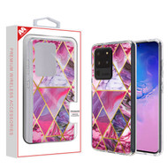 MyBat Fusion Protector Cover for Samsung Galaxy S20 Ultra (6.9) - Electroplated Purple Marbling