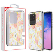 MyBat Fusion Protector Cover for Samsung Galaxy S20 Ultra (6.9) - Electroplated Pink Marbling