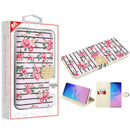 MyBat MyJacket Wallet Diamond Series for Samsung Galaxy S20 Ultra (6.9) - Pink Fresh Roses
