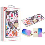 MyBat MyJacket Wallet Diamond Series for Samsung Galaxy S20 Ultra (6.9) - Butterfly Wonderland