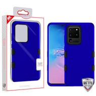 MyBat TUFF Hybrid Protector Cover [Military-Grade Certified] for Samsung Galaxy S20 Ultra (6.9) - Titanium Dark Blue / Black