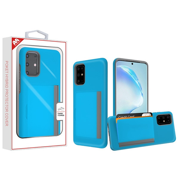 MyBat Poket Hybrid Protector Cover (with Back Film) for Samsung Galaxy S20 PLUS (6.7) - Blue / Gray