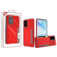 MyBat Poket Hybrid Protector Cover (with Back Film) for Samsung Galaxy S20 PLUS (6.7) - Red / Gray