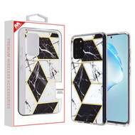 MyBat Fusion Protector Cover for Samsung Galaxy S20 PLUS (6.7) - Electroplated Black Marbling