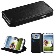 MyBat MyJacket Wallet Element Series for Samsung Galaxy S 4 (I337/L720/M919/I545/R970/I9505/I9500) - Black