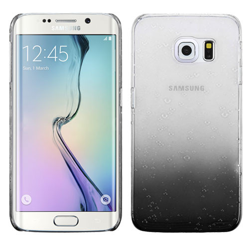 MyBat Gradient Water Drop Back Protector Cover for Samsung G925 (Galaxy S6 Edge) - Transparent Black