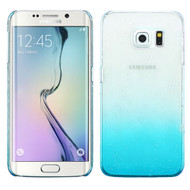 MyBat Gradient Water Drop Back Protector Cover for Samsung G925 (Galaxy S6 Edge) - Transparent Baby Blue