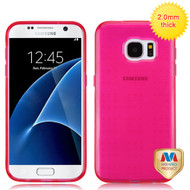 MyBat SPOTS Candy Skin Cover for Samsung G930 (Galaxy S7) - Glassy Transparent Hot Pink