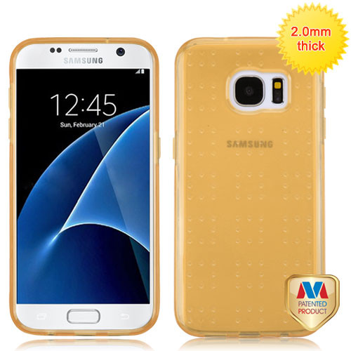 MyBat SPOTS Candy Skin Cover for Samsung G930 (Galaxy S7) - Glassy Transparent Gold