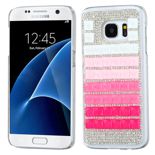MyBat Desire Back Protector Cover for Samsung G930 (Galaxy S7) - Gradient Stripes