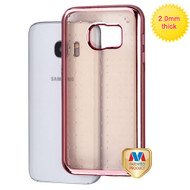 MyBat SPOTS Electroplated Premium Candy Skin Cover (with Rose Gold Backing) for Samsung G930 (Galaxy S7) - Rose Gold Glassy