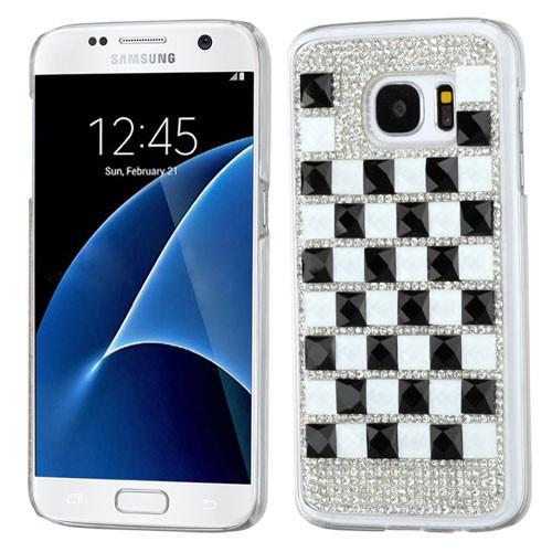 MyBat Desire Back Protector Cover for Samsung G930 (Galaxy S7) - Black / White