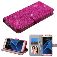 MyBat Diamante MyJacket Wallet for Samsung G935 (Galaxy S7 Edge) - Hot Pink