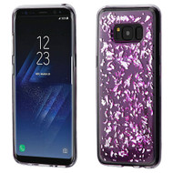 MyBat Krystal Gel Series Candy Skin Cover for Samsung Galaxy S8 - Silver Flakes (T-Purple)