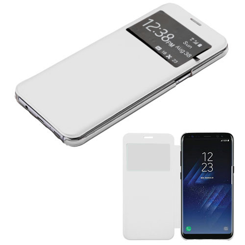 MyBat Silk Texture MyJacket (with Transparent Frosted Tray) for Samsung Galaxy S8 - White