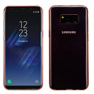 MyBat Candy Skin Cover for Samsung Galaxy S8 Plus - Glossy Transparent Rose Gold
