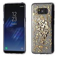 MyBat Krystal Gel Series Candy Skin Cover for Samsung Galaxy S8 Plus - Gold Rose Glitter (Transparent Clear)