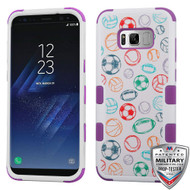 MyBat TUFF Hybrid Protector Cover [Military-Grade Certified] for Samsung Galaxy S8 Plus - Battle Of Balls / Electric Purple