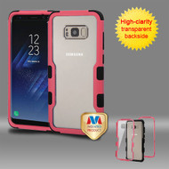 MyBat TUFF Vivid Hybrid Protector Cover for Samsung Galaxy S8 Plus - Natural Pink Frame+Transparent PC Back / Black