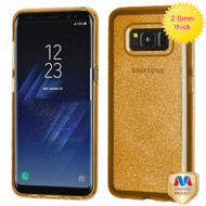 MyBat Sheer Glitter Premium Candy Skin Cover for Samsung Galaxy S8 Plus - Transparent Gold