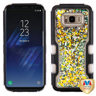MyBat TUFF Quicksand Glitter Hybrid Protector Cover for Samsung Galaxy S8 Plus - Natural Black / Black Meteor Shower