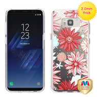 MyBat Glassy SPOTS Premium Candy Skin Cover for Samsung Galaxy S8 Plus - Spring Daisies