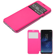 MyBat Silk Texture MyJacket (with Transparent Frosted Tray) for Samsung Galaxy S8 Plus - Hot Pink