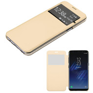 MyBat Silk Texture MyJacket (with Transparent Frosted Tray) for Samsung Galaxy S8 Plus - Gold