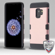 MyBat TUFF Trooper Hybrid Protector Cover [Military-Grade Certified] for Samsung Galaxy S9 - Rose Gold / Black