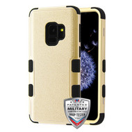 MyBat TUFF Hybrid Protector Cover [Military-Grade Certified] for Samsung Galaxy S9 - Textured Gold / Black