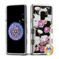MyBat TUFF Panoview Hybrid Protector Cover for Samsung Galaxy S9 - Metallic Silver / Roses Diamante