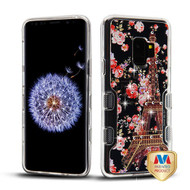 MyBat TUFF Panoview Hybrid Protector Cover for Samsung Galaxy S9 - Transparent Clear / Paris in Full Bloom Diamante