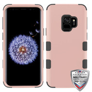 MyBat TUFF Hybrid Protector Cover [Military-Grade Certified] for Samsung Galaxy S9 - Rose Gold / Black