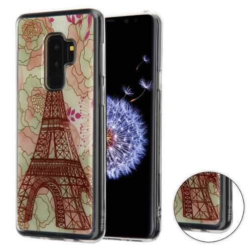 MyBat Krystal Gel Series Candy Skin Cover for Samsung Galaxy S9 Plus - Eiffel Tower (Transparent Clear)