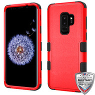 MyBat TUFF Hybrid Protector Cover [Military-Grade Certified] for Samsung Galaxy S9 Plus - Natural Red / Black