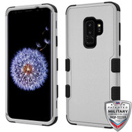 MyBat TUFF Hybrid Protector Cover [Military-Grade Certified] for Samsung Galaxy S9 Plus - Natural Gray / Black