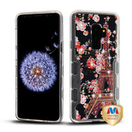 MyBat TUFF Panoview Hybrid Protector Cover for Samsung Galaxy S9 Plus - Transparent Clear / Paris in Full Bloom Diamante