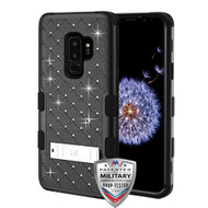 MyBat FullStar TUFF Hybrid Protector Cover (with Stand)[Military-Grade Certified] for Samsung Galaxy S9 Plus - Natural Black / Black