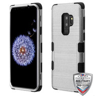 MyBat TUFF Hybrid Protector Cover [Military-Grade Certified] for Samsung Galaxy S9 Plus - Copper Grey Brushed / Black