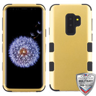 MyBat TUFF Hybrid Protector Cover [Military-Grade Certified] for Samsung Galaxy S9 Plus - Gold / Black
