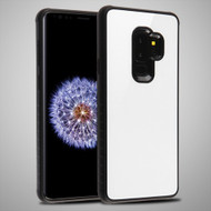 MyBat Fusion Protector Cover for Samsung Galaxy S9 Plus - White Tempered Glass / Black