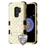 MyBat FullStar TUFF Hybrid Protector Cover (with Stand)[Military-Grade Certified] for Samsung Galaxy S9 Plus - Gold / Black