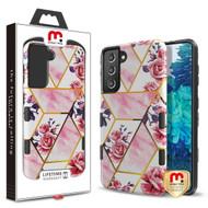 MyBat Pro TUFF Subs Hybrid Case for Samsung Galaxy S21 Plus - Roses Marble / Black