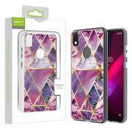 Airium Fusion Protector Cover for T-mobile REVVL 4 / TCL Revvl 4 - Electroplated Purple Marbling