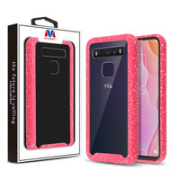 MyBat Splash Hybrid Case for T-mobile TCL 10 5G UW / Revvl (non 5G) - Highly Transparent Clear / Red