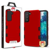 MyBat Pro TUFF Subs Hybrid Case for Samsung Galaxy S21 Plus - Titanium Red / Black