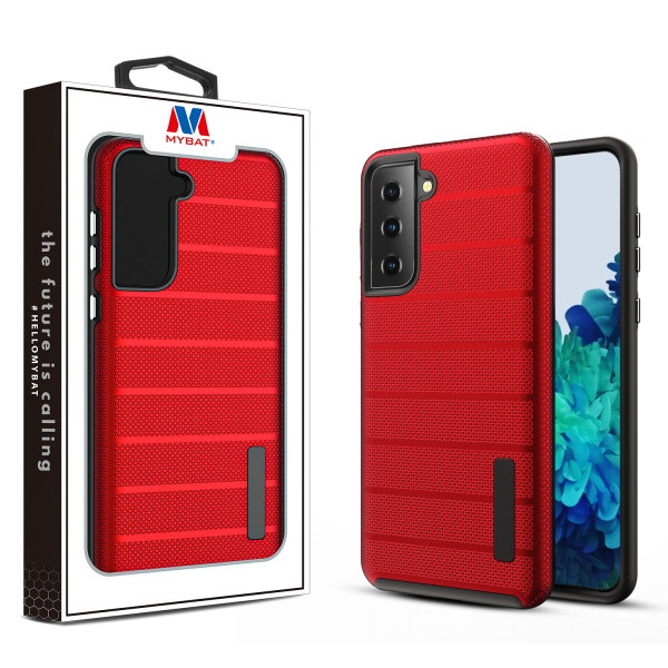 MyBat Fusion Protector Case for Samsung Galaxy S21 Plus - Red Dots Textured / Black