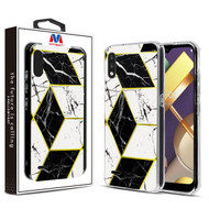 MyBat Fusion Protector Cover for Lg K22 - Electroplated Black Marbling